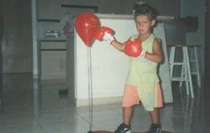 Michael com 3 anos. Cortesia da família.