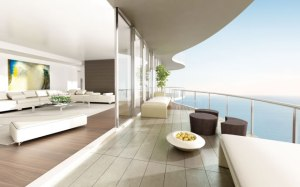 Este é o mais novo e luxuoso lançamento de Sunny Isles. Um apartamento por andar, começando por 500m2 por US$6M. Fica pronto em 2015. Foto: cortesia do Regalia Beach Developers LLC