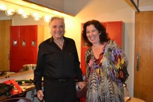 Maestro ao lado de Carmen, sua adorada – e adorável – esposa, no camarim do Broward Center for the Performing Arts