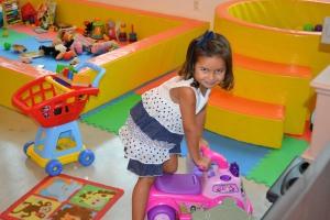 Gabriela Barbosa, de 4 anos, é filha de brasileiros, que moram em Miami há 6 anos.