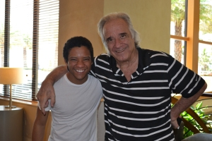 Maestro com o jovem tenor Jean William
