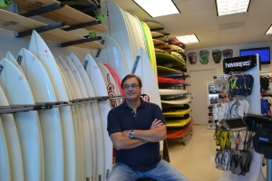 Christian Wolthers na sua loja em Fort Lauderdale. Fotos de Carla Guarilha