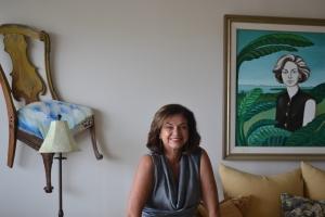 Sabino na sala de sua casa em Key Biscayne. Foto de Carla Guarilha