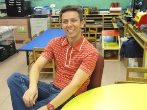 Alexandre Lopes na sala de aula