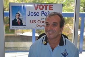 José Peixoto em visita a Miami. Foto de Carla Guarilha