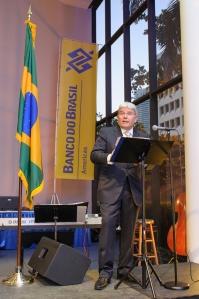 Leandro Alves no coquetel de lançamento do BB Américas na última sexta-feira. Foto: Fabiano Silva