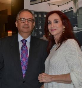 Camilla com Embaixador Hélio Vitor Ramos Filho, cônsul-geral do Brasil em Miami, no coquetel da Ornare. Foto de Carla Guarilha
