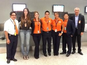 Casarini com sua equipe de Miami. Foto: Cortesia