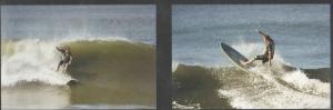 Christian surfando no ano passado na Nicarágua, outro de seus pontos favoritos para surfar. Cortesia
