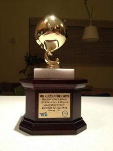 Primeiro troféu, do condado. Cortesia Alexandre Lopes