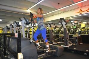 Bárbara faz 45 minutos de exercício na academia diariamente. Foto de Carla Guarilha