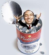 Bellino e sua lata de sopa de pedra