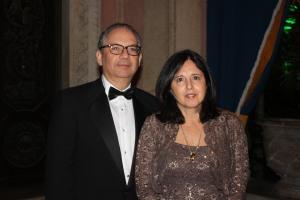 O Embaixador Hélio Vitor Ramos Filho, chair honorário do evento, com sua esposa Milma. Foto de Barbara Corbellini Duarte