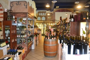 Loja de conveniência tem excelentes vinhos. Foto de Carla Guarilha