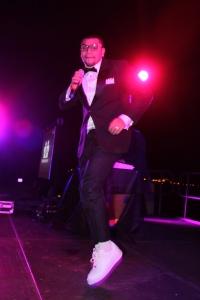 O cantor Naldo lançou a sua carreira internacional no II BrazilFoundation Gala Miami. Foto de Barbara Corbellini Duarte