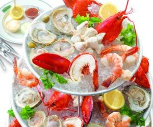 """""""Bouquet"""" de frutos do mar"""